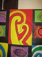 Mrs. Art Teacher!: 5th grade Koru paintings
