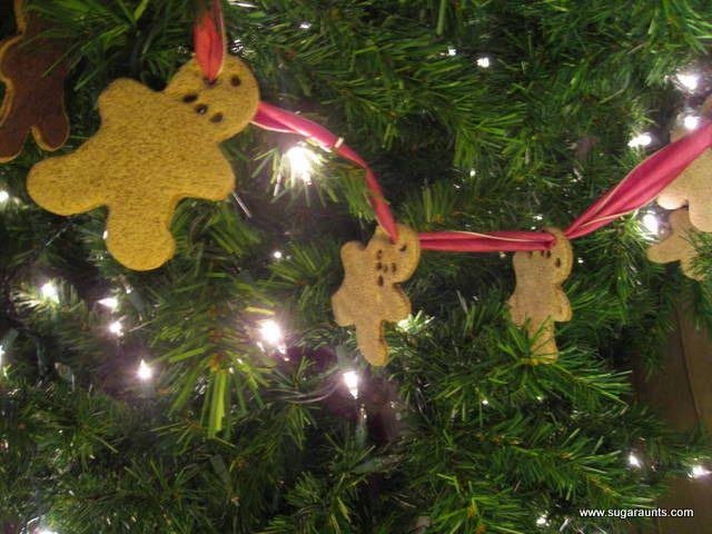 Sugar Aunts: Gingerbread Salt Dough Garland **25 Days of Christmas Play**