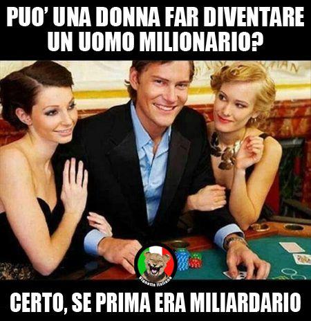 Può una #donna far diventare un #uomo #miliardario? certo, se prima era #milionario? #Vignetta e #Vignette, #immagini #divertenti in #italiano e #italiane.