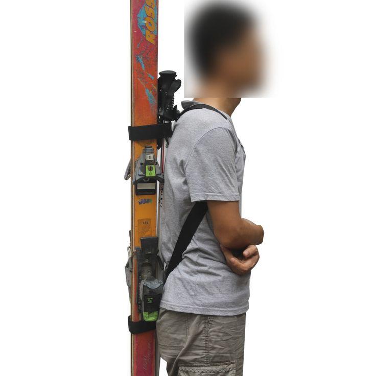 Handi Ski Tote Ski Backpack Carrier Ski Carry Sling Strap Shoulder Strap - Hold Poles! NO SKIS AND POLES