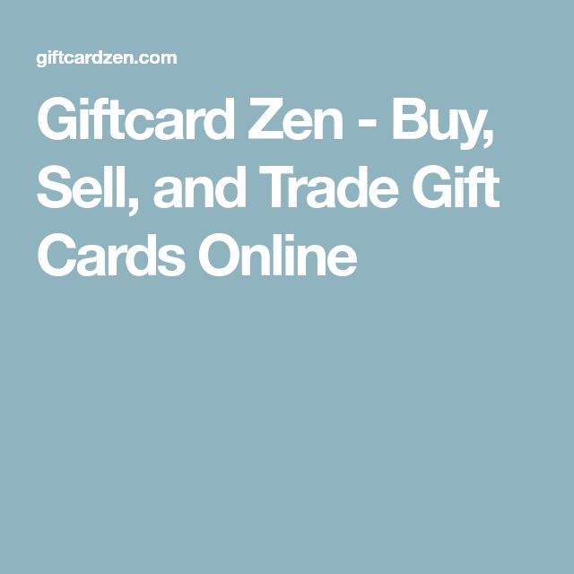 Giftcard Zen - Buy, Sell, and Trade Gift Cards Online