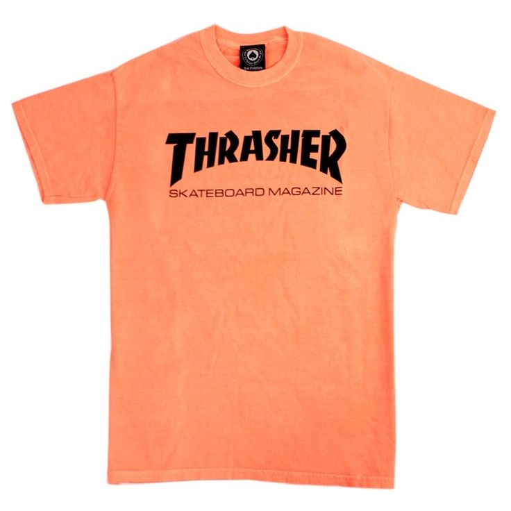 Thrasher Magazine Mag Logo T Shirt in Neon Orange