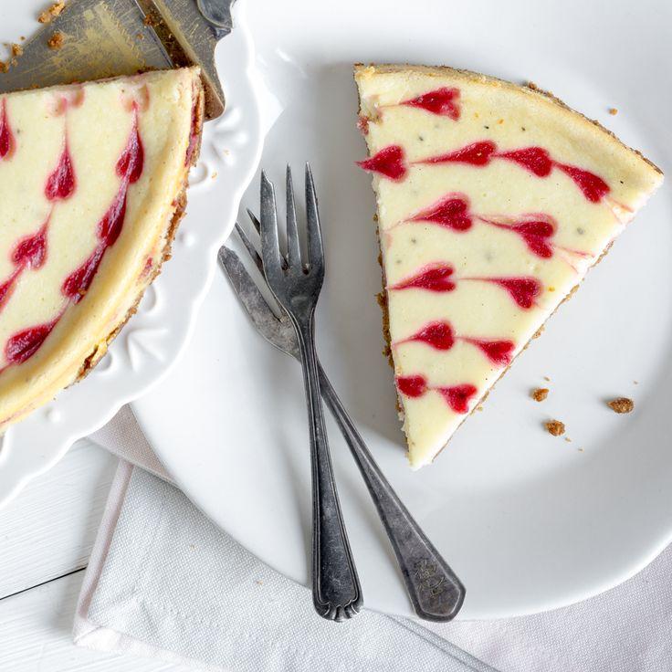 Weiße Schokolade und fruchtige Himbeeren - eine unschlagbare Kombination. Wenn sie sich dann auch noch als Cheesecake vereinen - ein Gedicht.