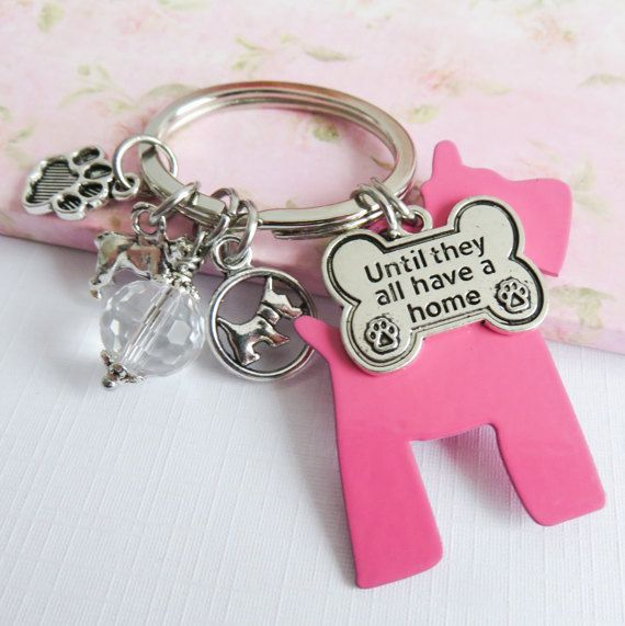 Dog rescue shelter keychain animal rescue by romanticcrafts