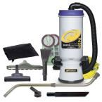 Super CoachVac Hepa 10 Qt. Backpack Vac with Residential Cleaning Service Kit, Grays
