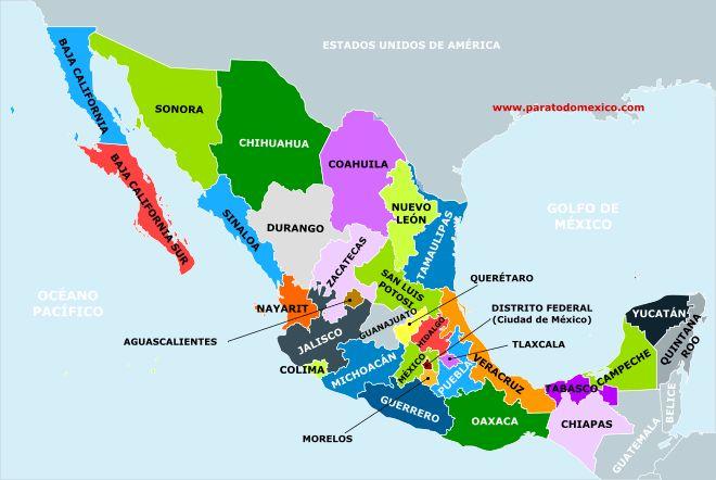 División Politica de México