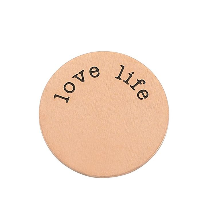 Love life Plaka - Orta Rose Altın
