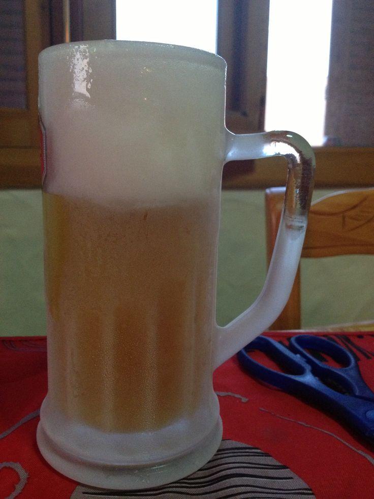 Mahou 5* en jarra helada...#cerveza #beer
