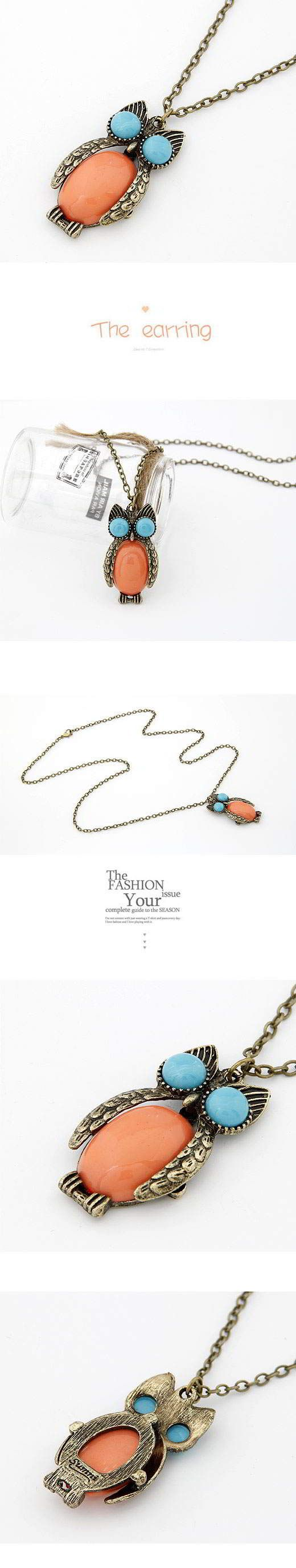 Korean Vintage Exquisite Fashion Lovely OWL Charm Design Sweater Chain General. Small and catchy. REPIN if you like it. Only 22.5 IDR