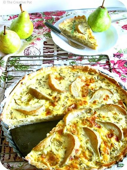 Pear & Camembert Quiche
