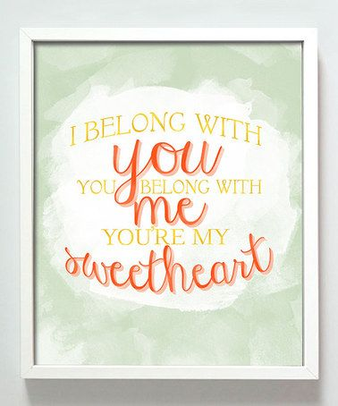 Another great find on #zulily! 'Sweetheart' Print #zulilyfinds