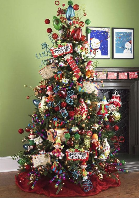 raz postmark christmas decorated tree at trendy tree