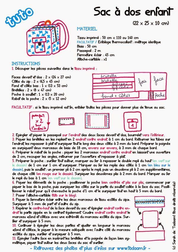 DIY / Tuto : Sac à dos de maternelle