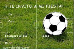 invitaciones cumpleaños futbol gratis Invitaciones de Cumpleaños gratis