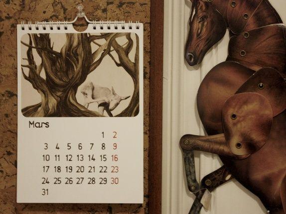 calendar by miss talseth illustration