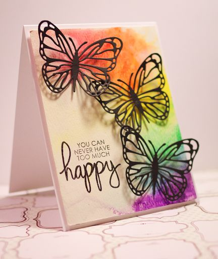 Trend Watch – Color Outside the Lines with Messy Watercolor :: Paper Crafter's Library