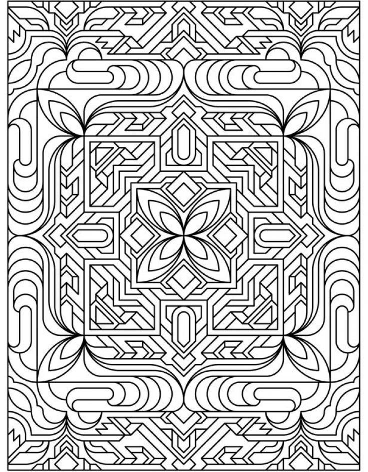 Free Tessellation Coloring Pages Adult Printable 36213 ...