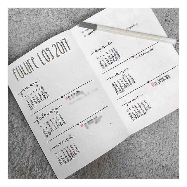 Bit by bit I will show you how I set up my new bullet journal for 2017! I know I'm a little behind but still - this is my future log. Very minimalistic ❤ • Weiter geht's mit dem Set-Up meines Bullet Journals für 2017! Mein Future Log ist diesmal sehr minimalistisch - auf der nächsten Seite folgen die restlichen Monate. Übrigens: Ich liebe mein Nuuna Notebook ❤ #nuuna #notebook #bujoaddict #bujocommunity #bulletjournal #bujo #newyearnewbulletjournal #futurelog #setupfor2017 #planner…