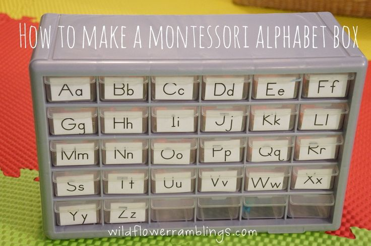 How to Make a Montessori Alphabet Box by Wildflower Ramblings. This takes literacy learning to a whole new level, encouraging budding readers to associate beginning sounds with letters. SUPER helpful!