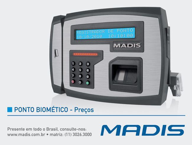 A MADIS fabrica controles de ponto em diversos modelos, para melhor atender as necessidades dos seus clientes, da sua empresa. O ponto biométrico é um dos mais modernos oferecidos atualmente no mercado, com excelente custo-benefício.
