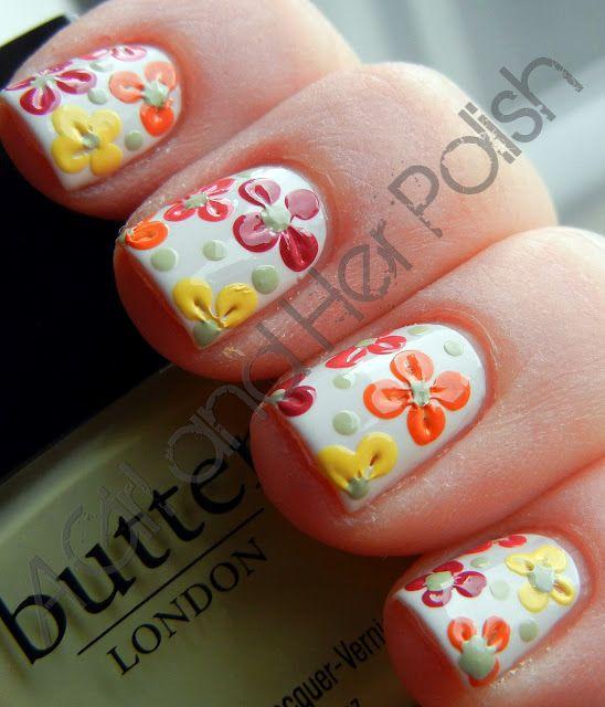 Cute flowers Nail Art