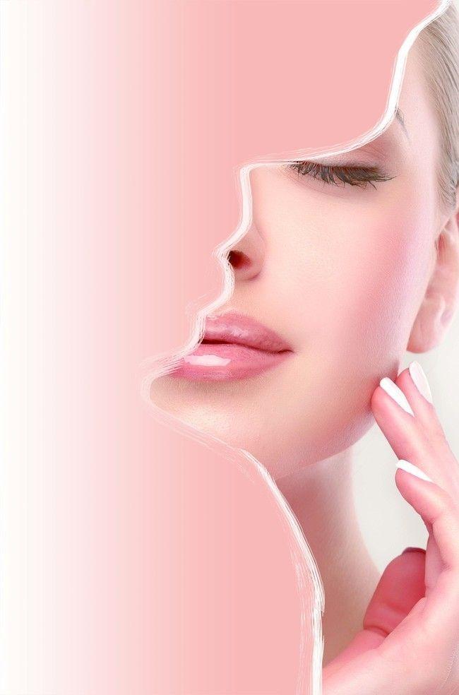 Unha Cara A Pele Retrato Background Beauty Salon Posters Skin Care Spa Makeup Illustration