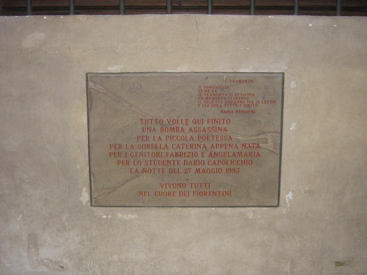 Strage di Via dei Georgofili, 27/05/1993 - Firenze