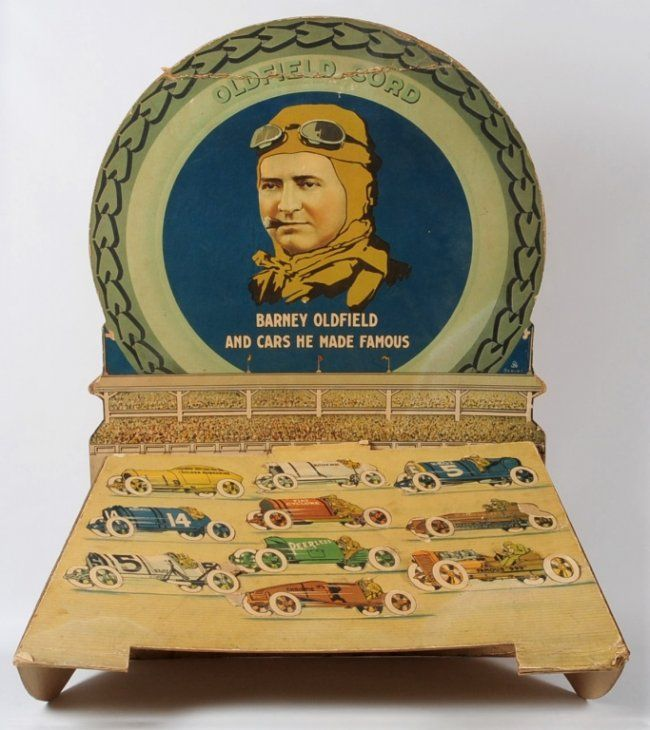 BARNEY OLDFIELD CORD TIRES ADVERTISING DISPLAY C.1920 : Lot 357