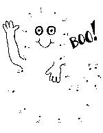 Ghost dot-to-dot printable