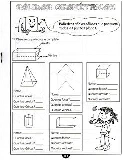 Jardim da Tia Di♥: Atividades Sólidos Geométricos