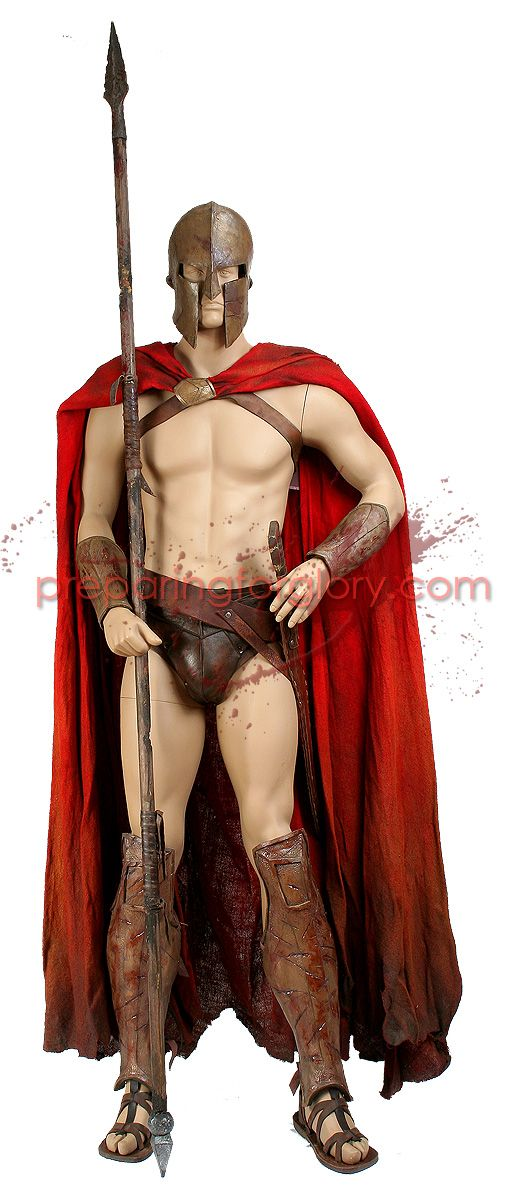 Art and Kristen's 300 Spartan Costume | Preparing For Glory: A 300 Movie Prop Site