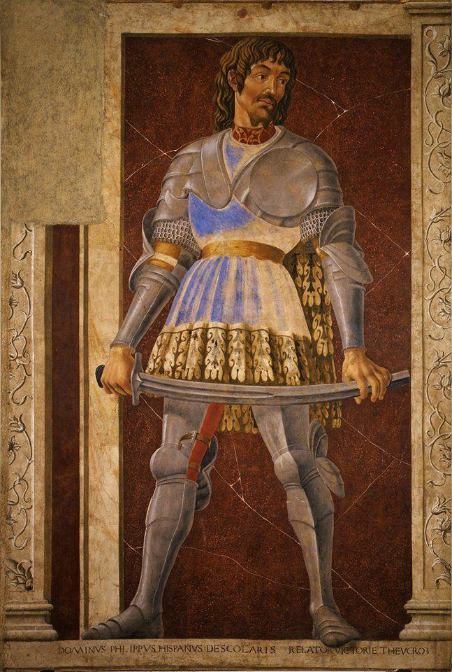 """Andrea di Bartolo di Bargilla detto Andrea del Castagno (1421 – 1457) - Ritratto di Pippo Spano"""" (1448-1451) - Galleria degli Uffizi - Firenze"""