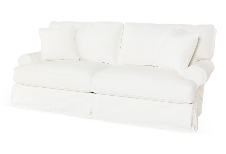 "The Shabby Chic collection - One Kings Lane - Laid-Back Luxuries - Comfy 90"" Sofa, White - $2399 (orig. $3525)"