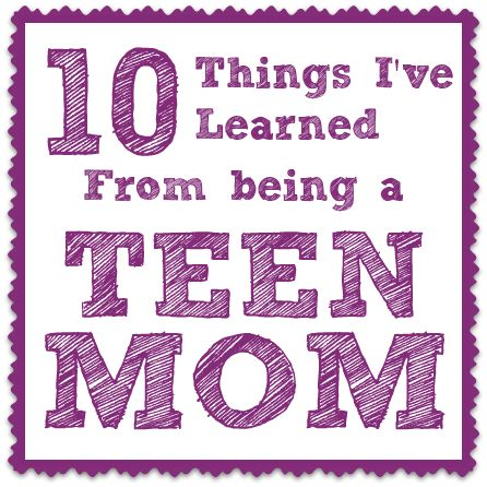 10 Things I've Learned from Being a Teen Mom; Are we treating each other with love and support, no matter what the age?  Condemnation never helped anyone.  If I have not love I am but a clanging gong...