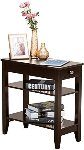 Best Buy Detrust 3 Tier End Table Drawer Shelves Narrow Tiered 400 x 300
