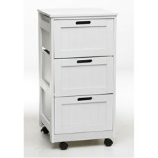 Other Storage Unit Trolley 3 Drawers White White 3 drawers storage unit trolley made from MDF. http://www.comparestoreprices.co.uk/furniture-store/other-storage-unit-trolley-3-drawers-white.asp