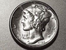 1924-S Mercury Dime * Superb Gem BU Full Bands * Free Layaway *