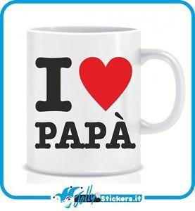 Tazza personalizzata idea regalo festa del papà i love papà TZ014   eBay