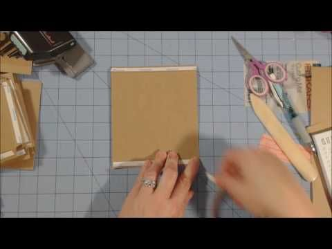 5 x 5 mini album tutorial | Part 1| Construction of pages/Album