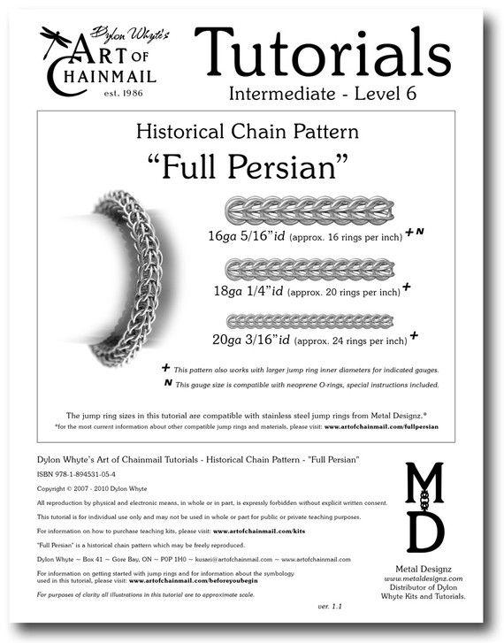 Chain Tutorial - Full Persian Pattern - PDF