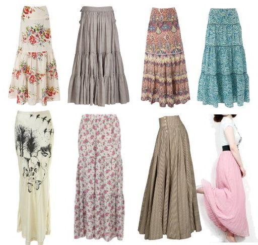 Moldes para hacer faldas largas con volantes03