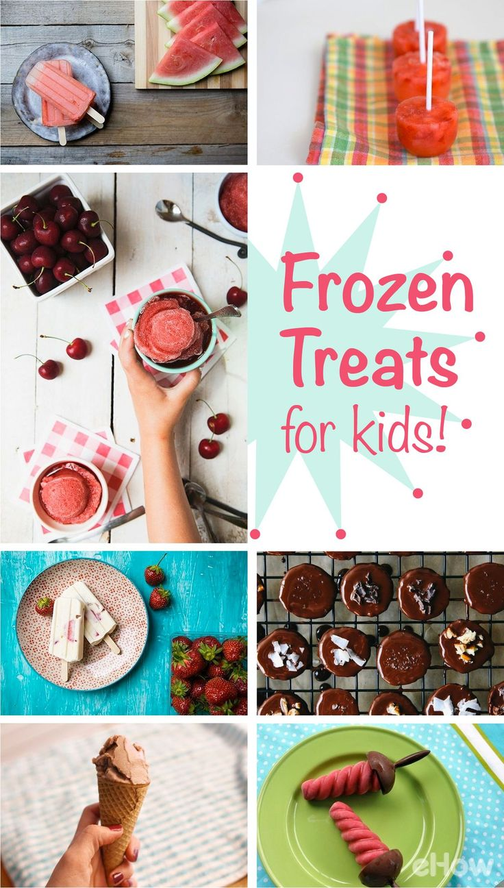 9+ easy recipes for great frozen treats for kids, including popsicles, sorbets, frozen banana bites and mocktails! The kids are going to love all of these (and they don't have to know they're healthy!) http://www.ehow.com/list_12340128_9-frozen-treats-kids.html?utm_source=pinterest.com&utm_medium=referral&utm_content=curated&utm_campaign=fanpage
