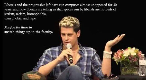 "I have yet to hear Milo say anything that makes me think, ""Well, I disagree""."