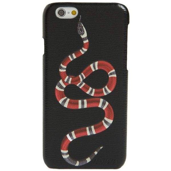 Men's Gucci Solid Snake Iphone 6 Case (€300) ❤ liked on Polyvore featuring men's fashion, men's accessories, men's tech accessories and black multi