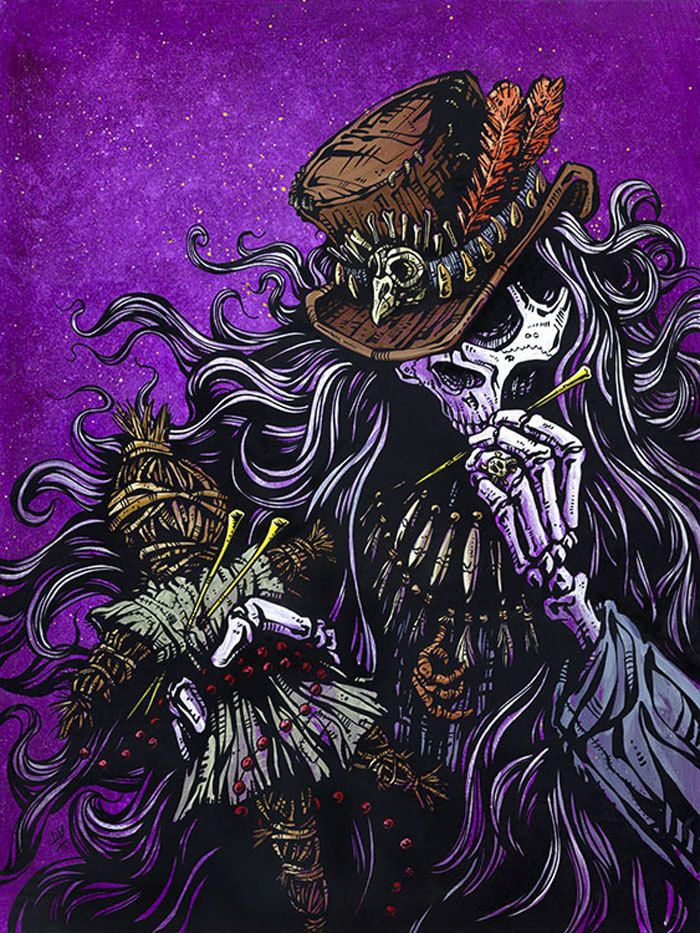Purple Leopard Boutique - Voodoo Priest by David Lozeau Tattoo Canvas Giclee Black Magic Skull Doctor, $65.00 (http://www.purpleleopardboutique.com/voodoo-priest-by-david-lozeau-tattoo-canvas-giclee-black-magic-skull-doctor/)