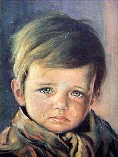 The crying boy _ Giovanni Bragolin