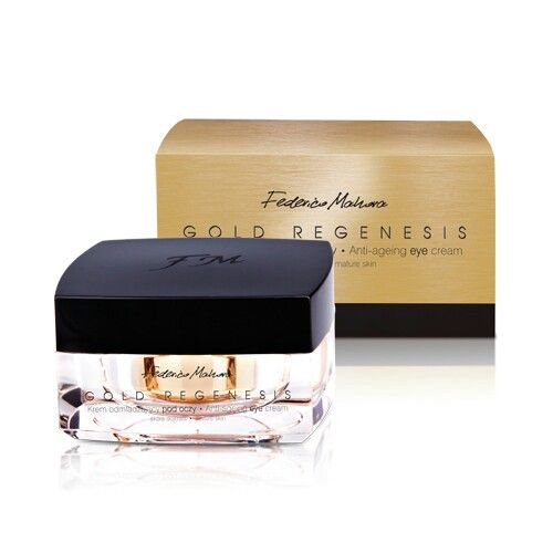 This new 20ml Gold Regenesis Anti-Ageing Eye Cream restores elasticity and smoothness of delicate skin around the eyes. Itfights the ageing symptoms, wrinkle formation and discolourations. Colloidal gold stimulates production of collagen and elastin, regenerates and optimally moisturises the skin. Guarana seed extract stimulates microcirculation and inhibitswrinkle formation. Centella (Centella asiatica) extract smooths and firms the skin. Kiwi and sophora root extracts even out the skin…