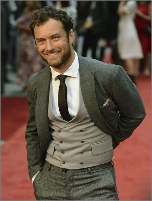 Jude Law. I love the double breasted waistcoat. If you don't know what a waistcoat is, you're doing something wrong.