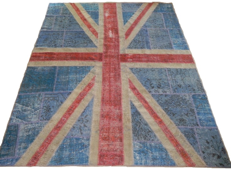Vintage, Distressed Union Jack Rug   Great For A Bedroom Or Living Space    For