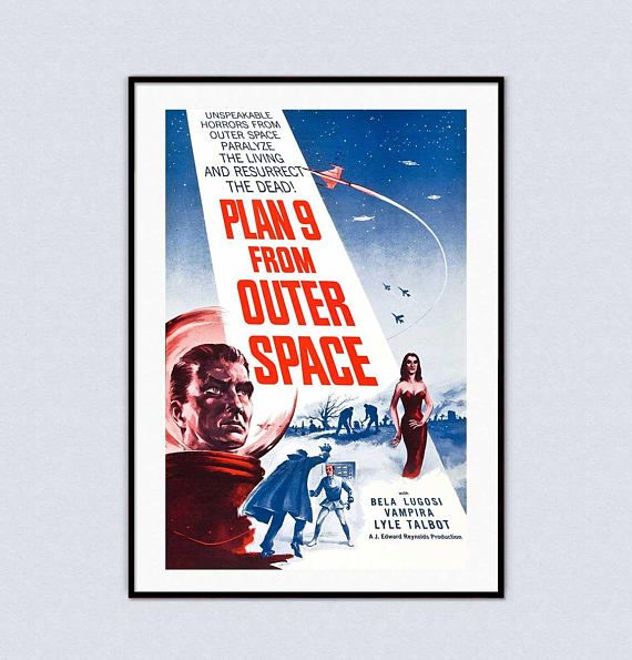 Plan 9 From Outer Space Futuristic Zombie Sci-Fi Retro